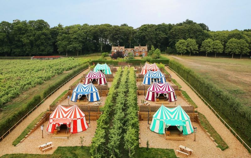 Knights glamping | Leeds Castle | UK